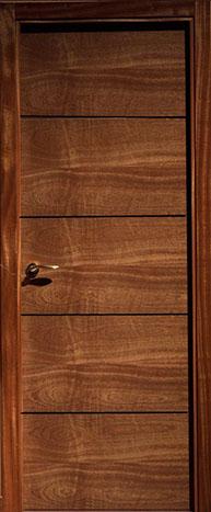 Puerta chapa natural PH4 RAMEADO trazo negro-Finolledo